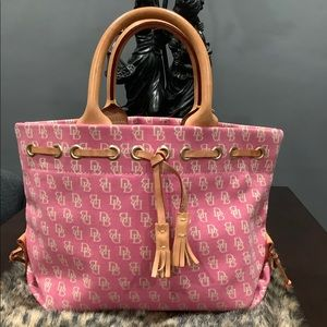 DOONEY AND BOURKE SMALL PINK CANVAS BAG